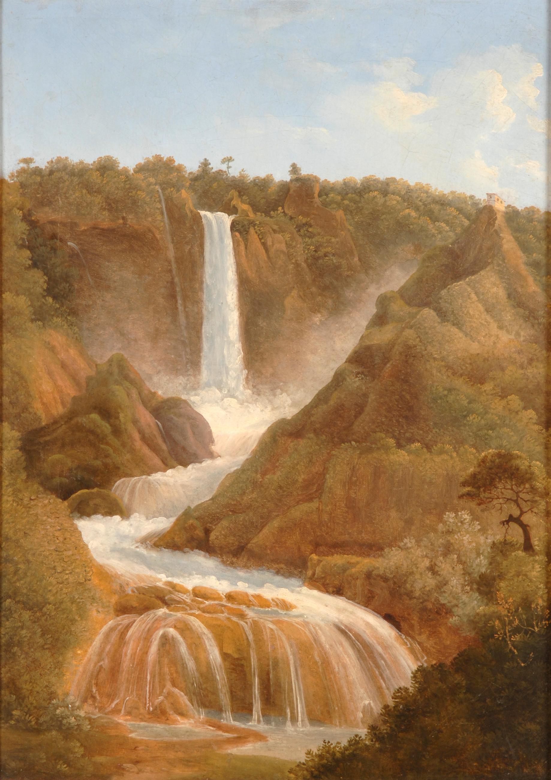 La cascata delle Marmore<br>fine XVIII-XIX secolo