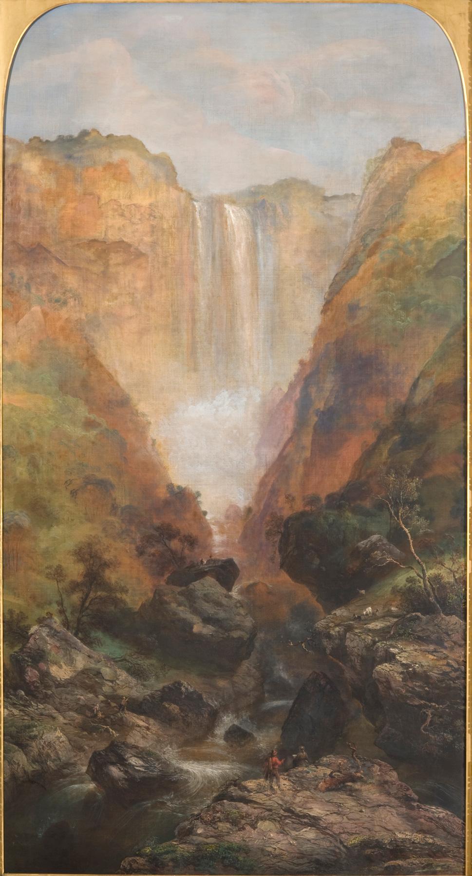 Carlo Bossoli<br>La cascata delle Marmore<br>1856