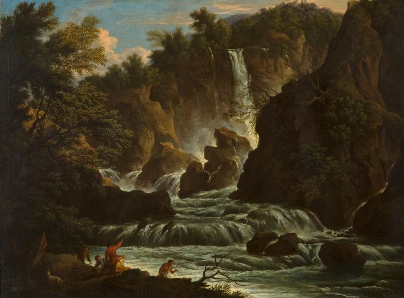 Claude Joseph Vernet, cerchia<br>La cascata delle Marmore<br>XVIII secolo