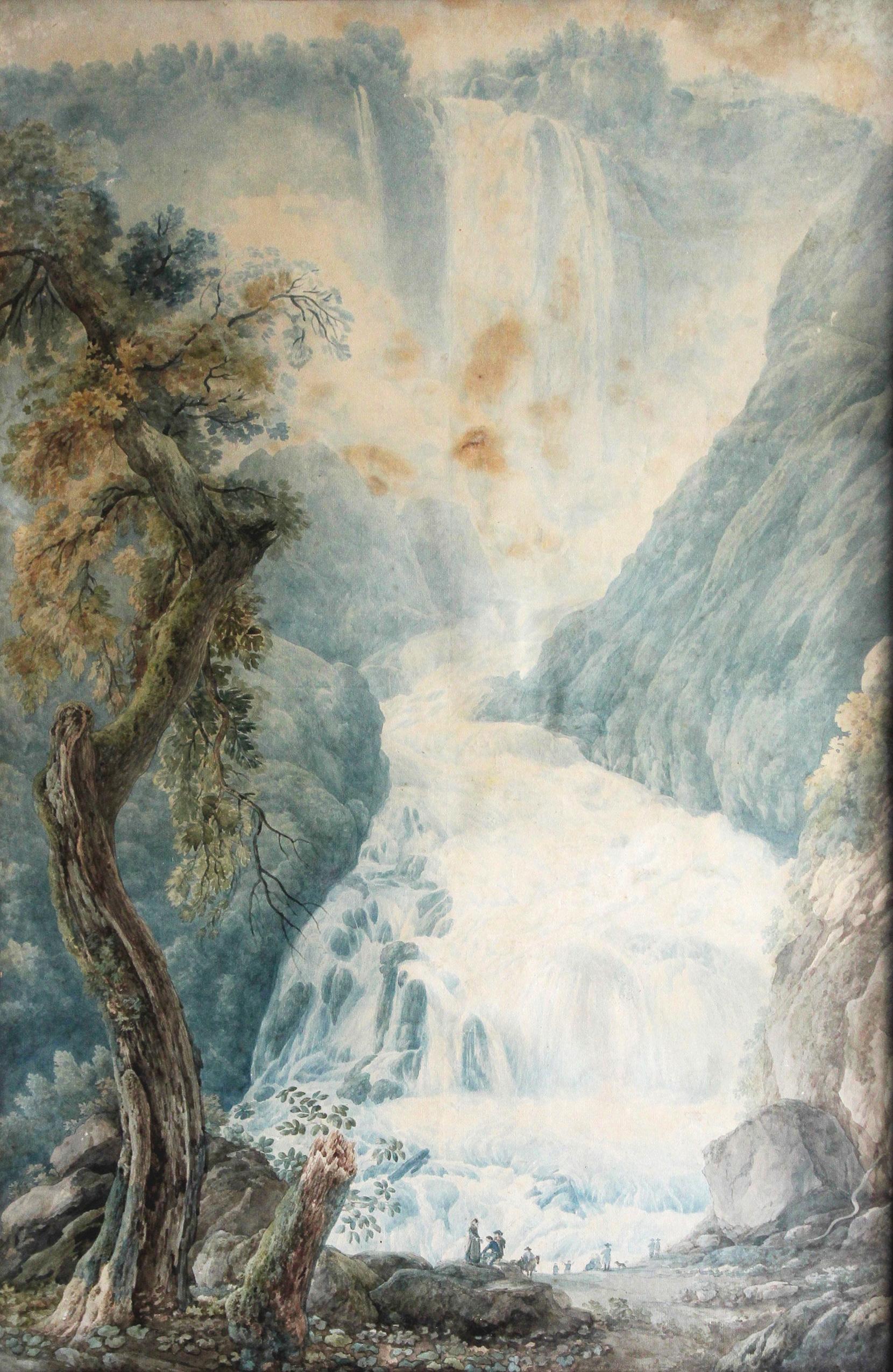 Abraham Luis Ducros<br>La cascata delle Marmore<br>1785