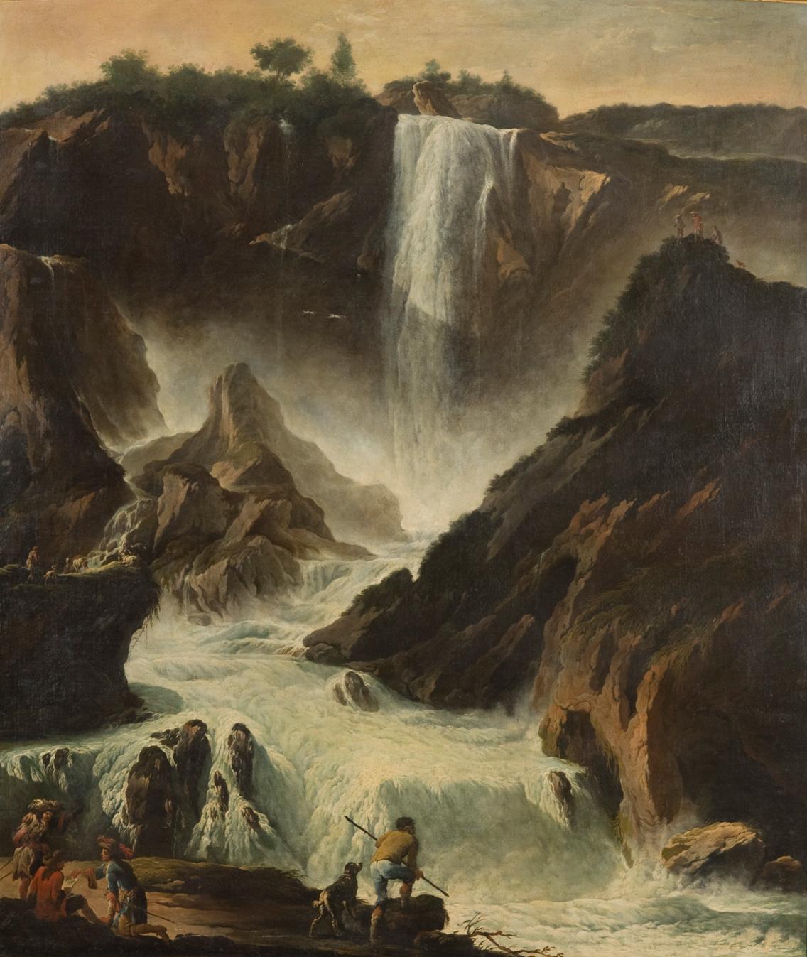 Philipp Roos, Rosa da Tivoli<br>La cascata delle Marmore<br>XVII secolo