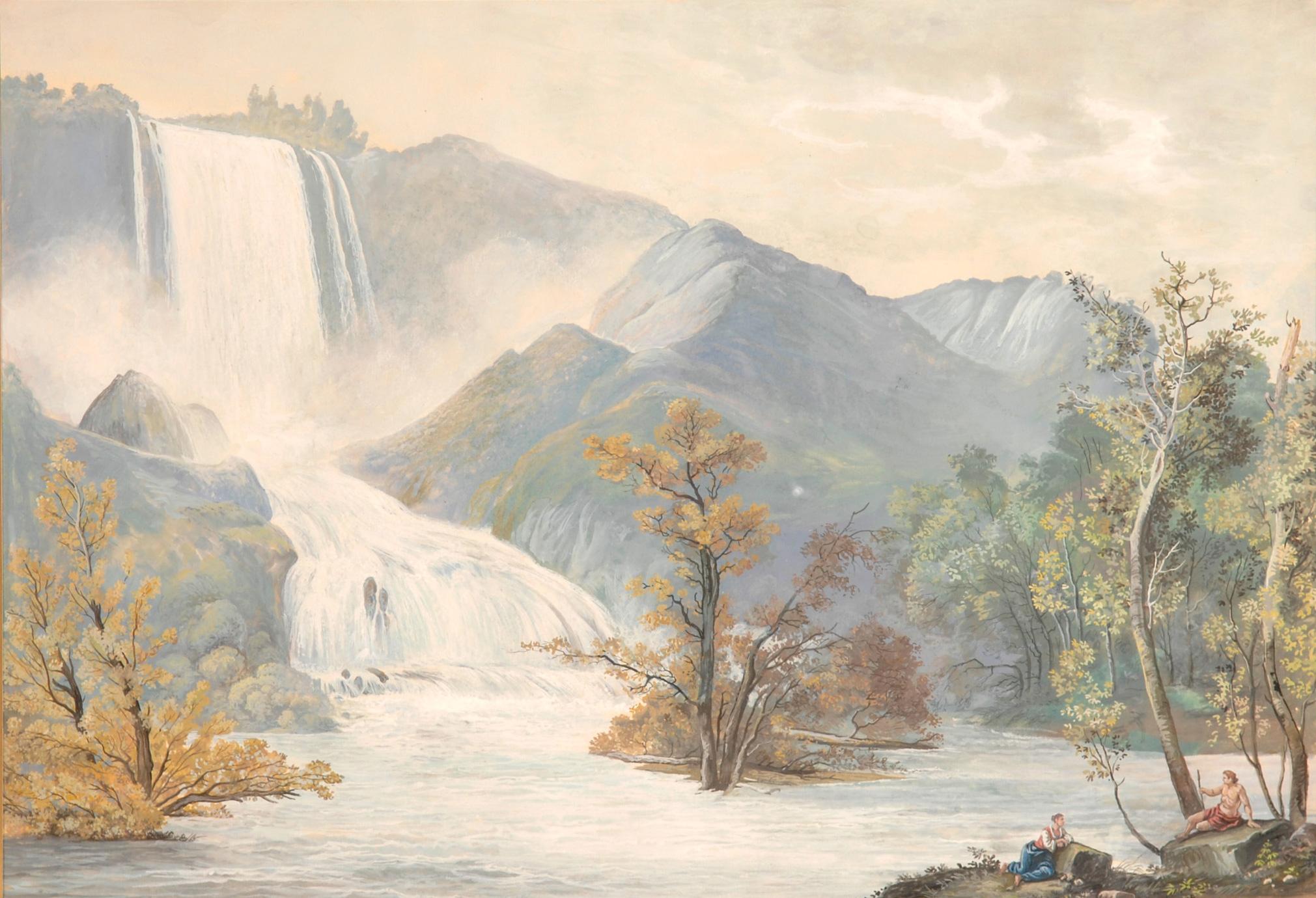 La cascata delle Marmore<br>seconda metà XVIII secolo
