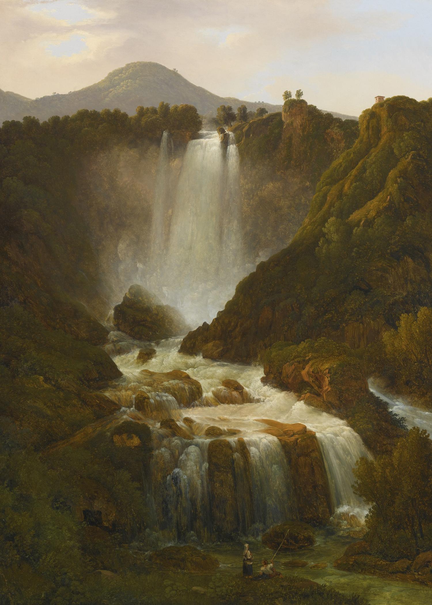 Giambattista Bassi<br>La cascata delle Marmore<br>1820