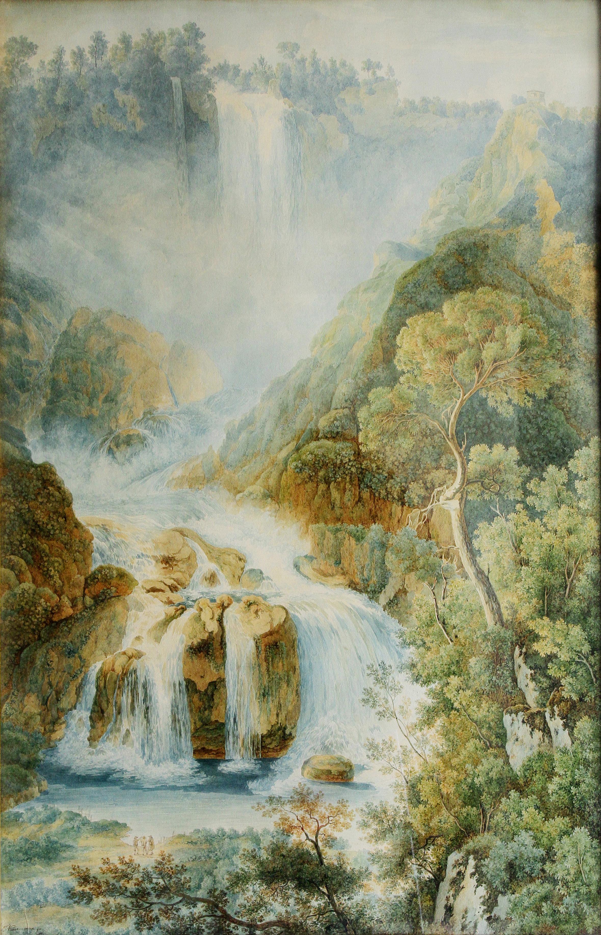 Francois Keiserman<br>La cascata delle Marmore<br>fine XVIII secolo