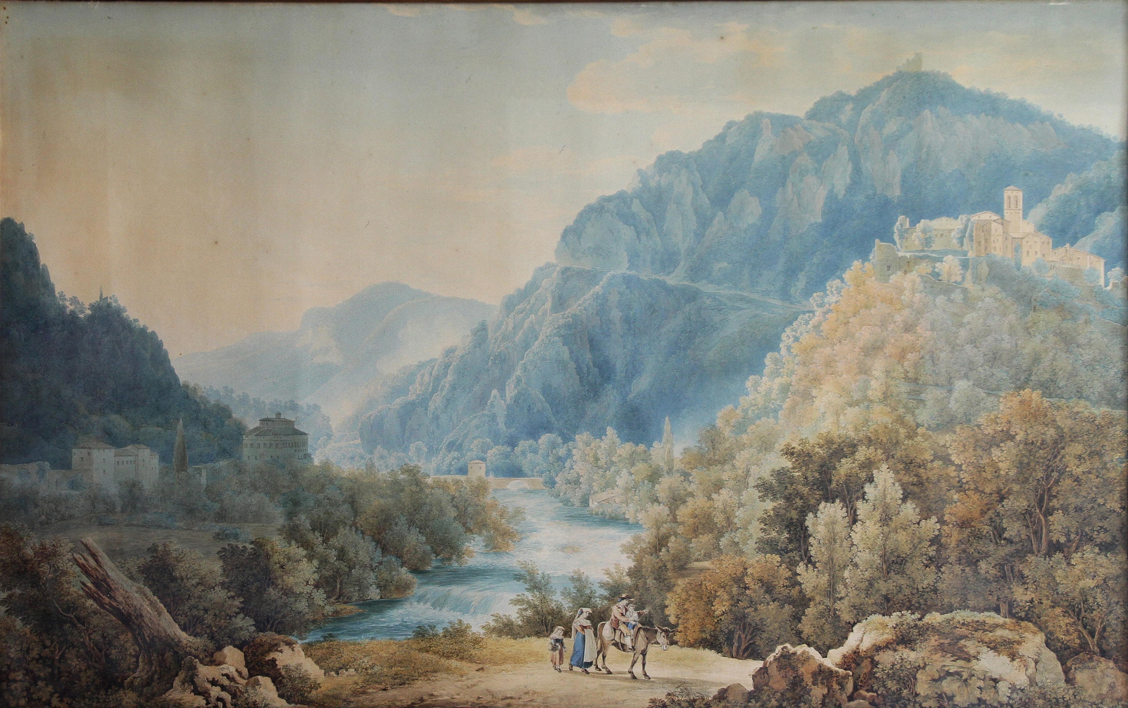 Francois Keiserman<br>Papigno e la valle di Terni<br>1820