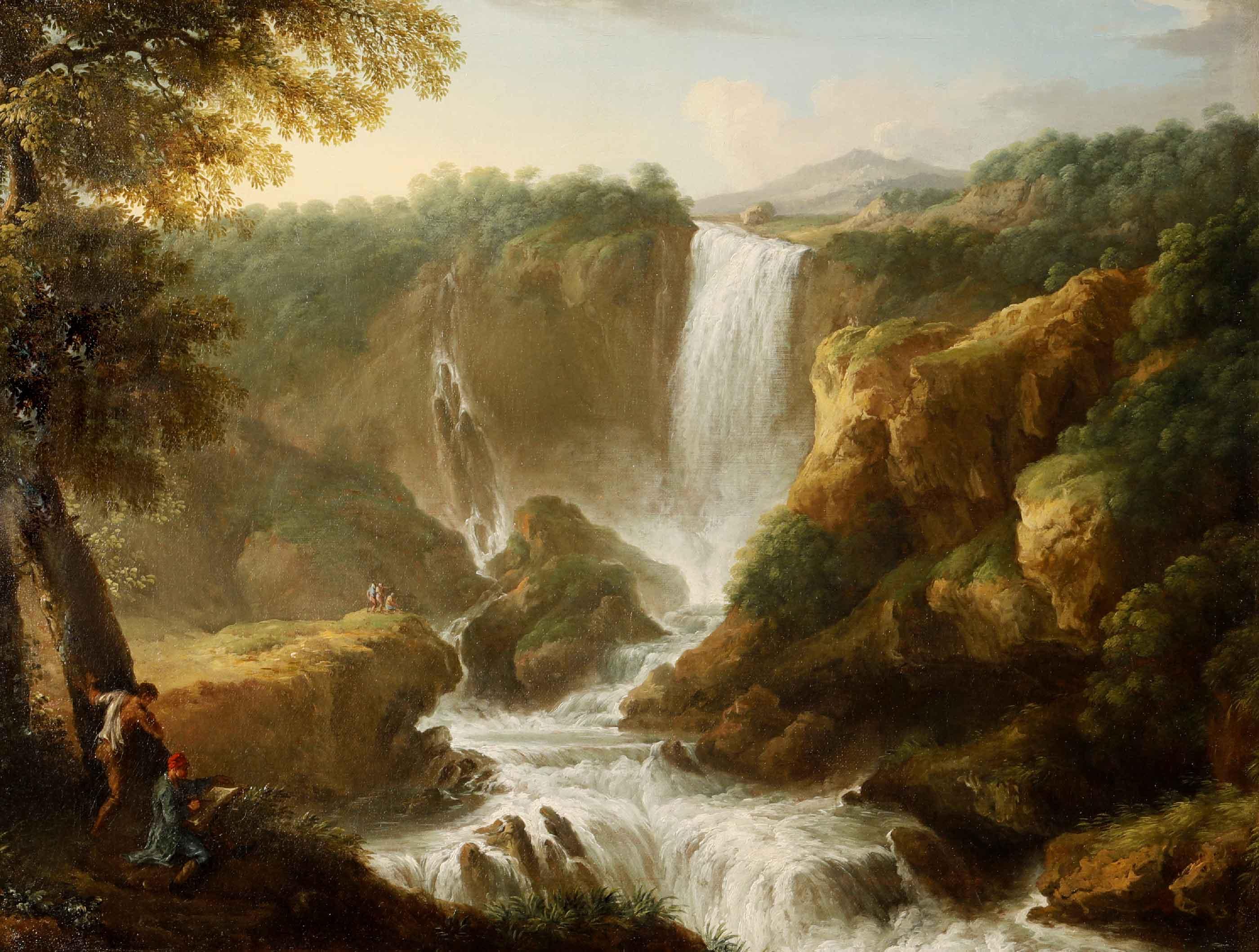 Jan Frans Van Bloemen,<br>Paesaggio con la cascata delle Marmore,<br>prima metà XVIII secolo